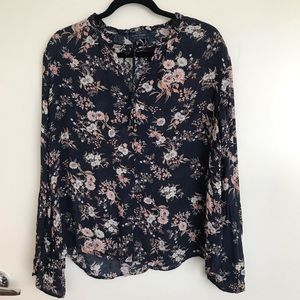 Lucky Brand Peasant Floral Blouse